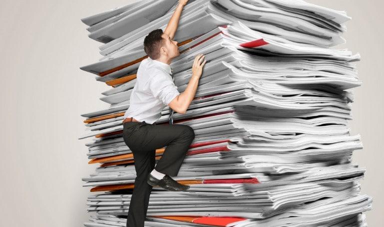 3 fois moins de papier qui traîne à la maison