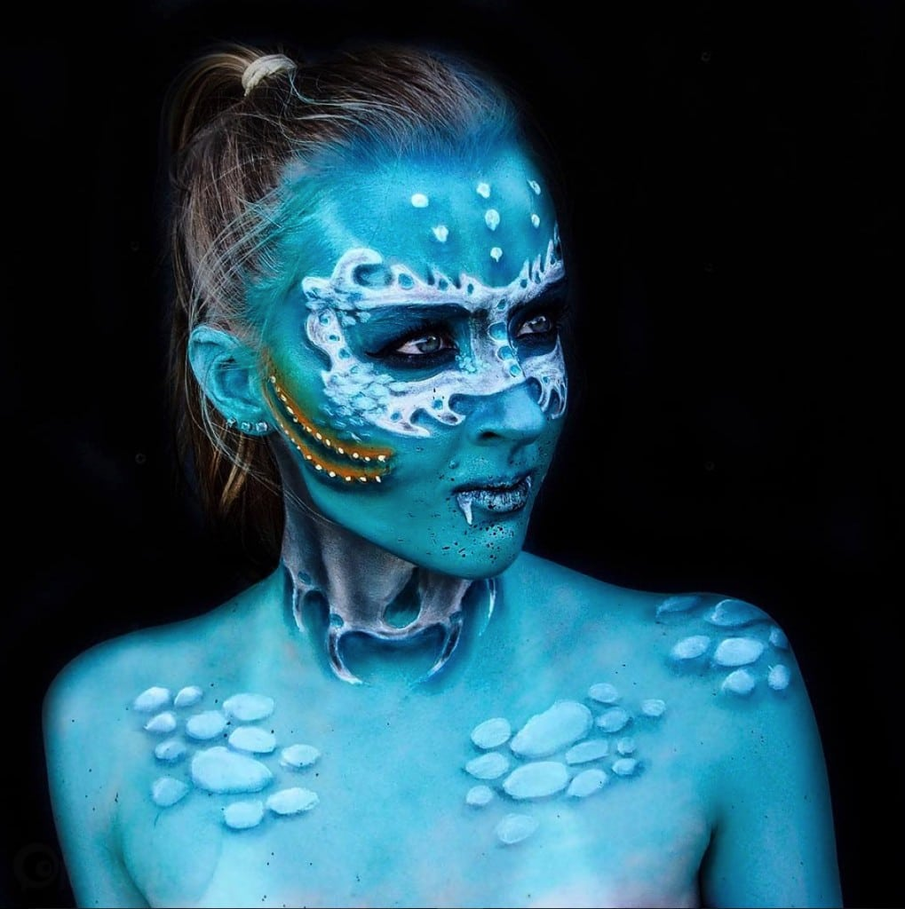 cas extreme du body-painting